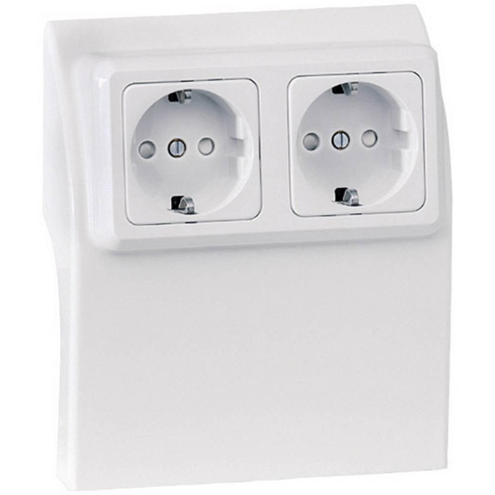 Skirting Board Socket Inset 75584 White From Wiring