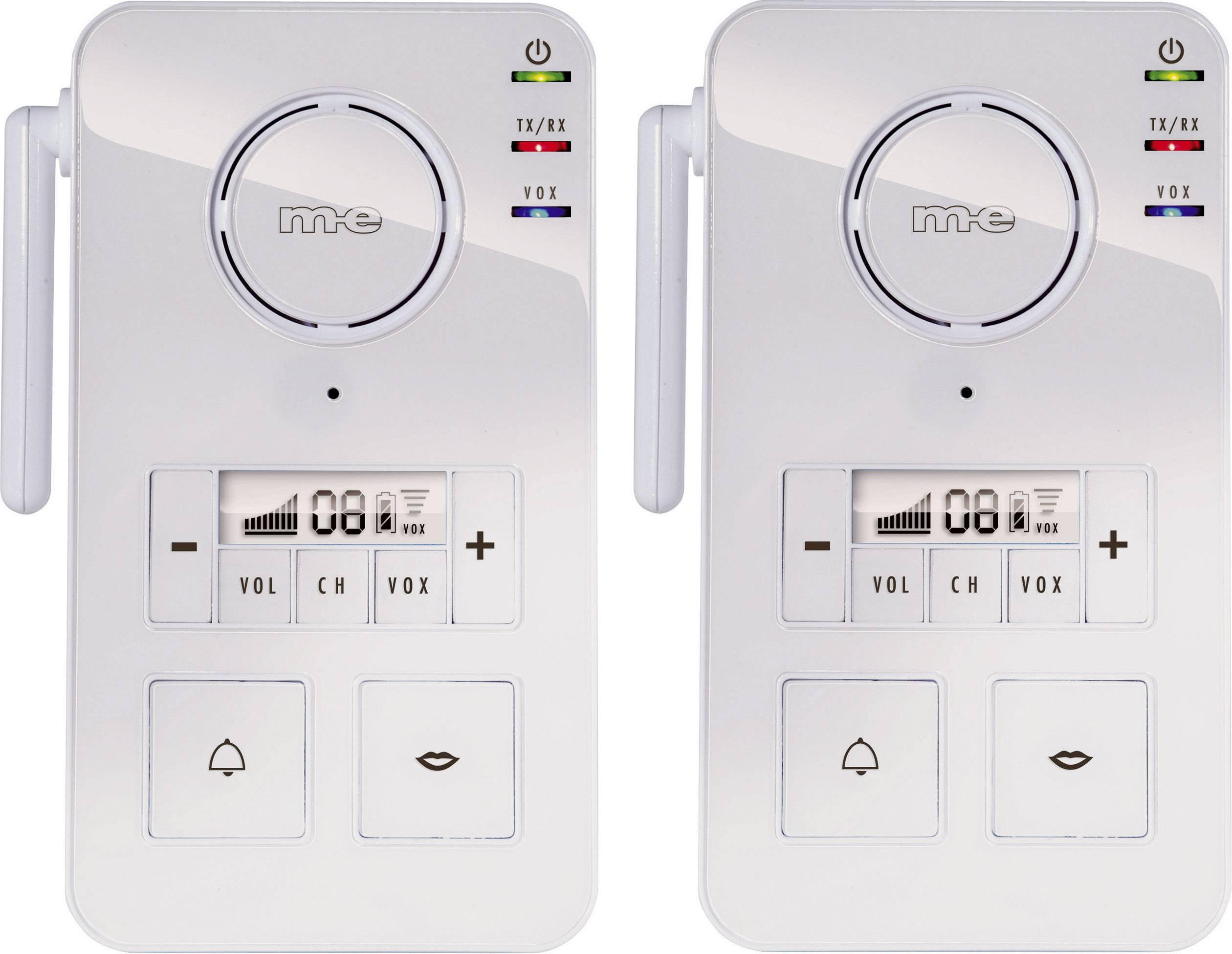 Door phone Radio 446 MHz 2000 m White m-e modern-electronics