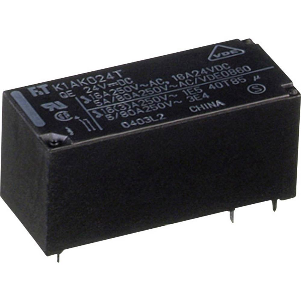 Printrelæ 24 V/DC 16 A 1 x sluttekontakt Fujitsu FTR-K1AK024T 1 stk