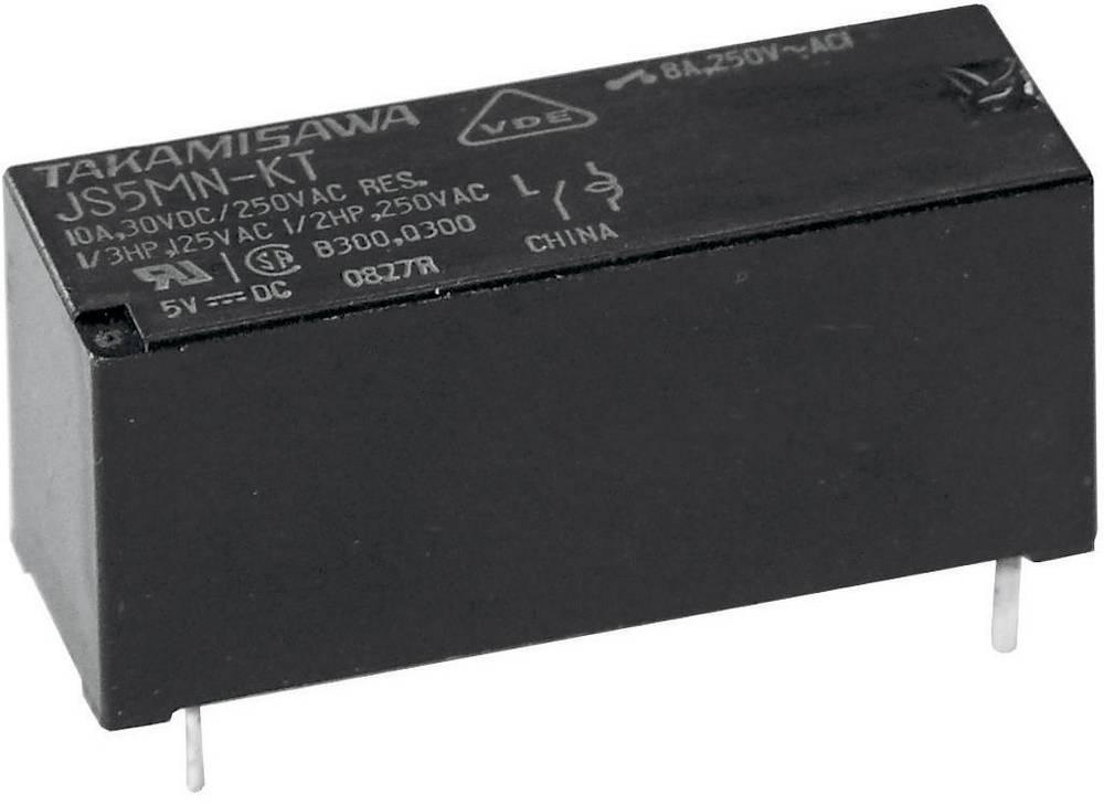 Printrelæ 5 V/DC 10 A 1 x skiftekontakt Fujitsu JS-05N-K 1 stk