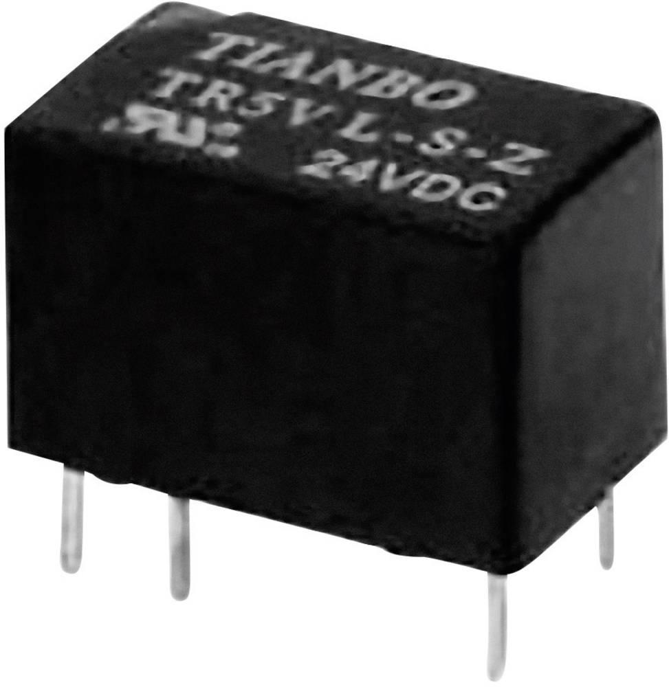 Printrelæ 24 V/DC 2 A 1 x skiftekontakt Tianbo Electronics TR5V-M-24VDC-S-Z 1 stk