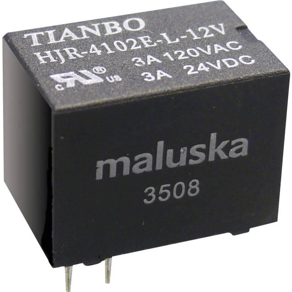 Printrelæ 5 V/DC 5 A 1 x skiftekontakt Tianbo Electronics HJR4102E-L-5VDC-S-Z 1 stk