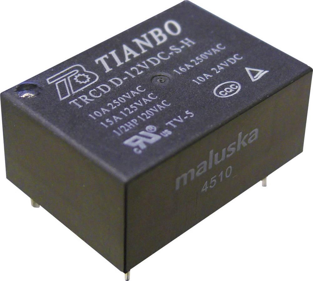 Printrelæ 12 V/DC 16 A 1 x sluttekontakt Tianbo Electronics TRCD-L-12VDC-S-H 1 stk