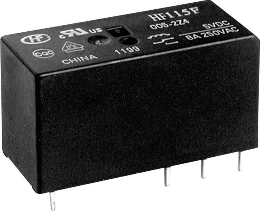 Printrelæ 5 V/DC 16 A 1 x sluttekontakt Hongfa HF115F/005-1HS3B(610) 1 stk