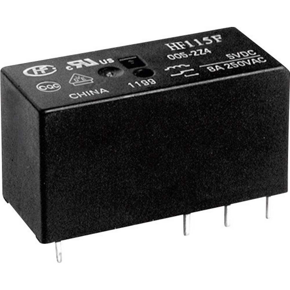 Printrelæ 24 V/DC 16 A 1 x sluttekontakt Hongfa HF115F/024-1HS3B(610) 1 stk