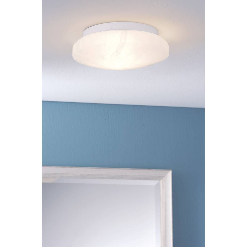 Bathroom flush mount ceiling light HV halogen, Energy-saving bulb ...