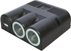 Fordeler Opbygning ProCar Aufbau-Dreifachsteckdose mit USB 12 V 16 A 6,3 mm fladstik