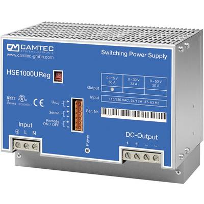 Camtec HSEUreg10001.50T Bench PSU (adjustable voltage) 0 - 50 V DC 20 A 1008 W No. of outputs 1