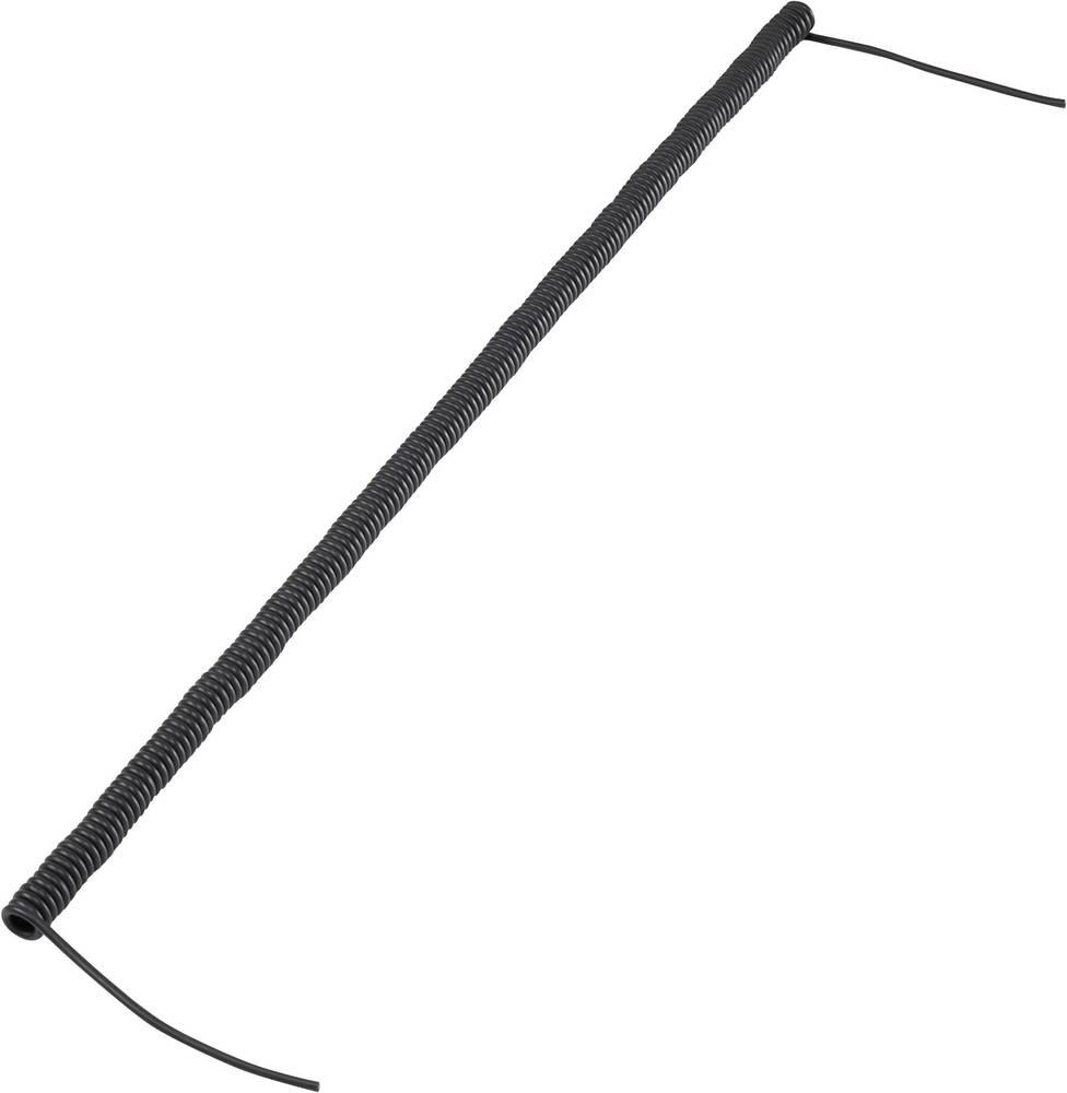 Spiralni kabel 170 mm / 500 mm 2 x 0.12 mm črne barve 630972 1 kos