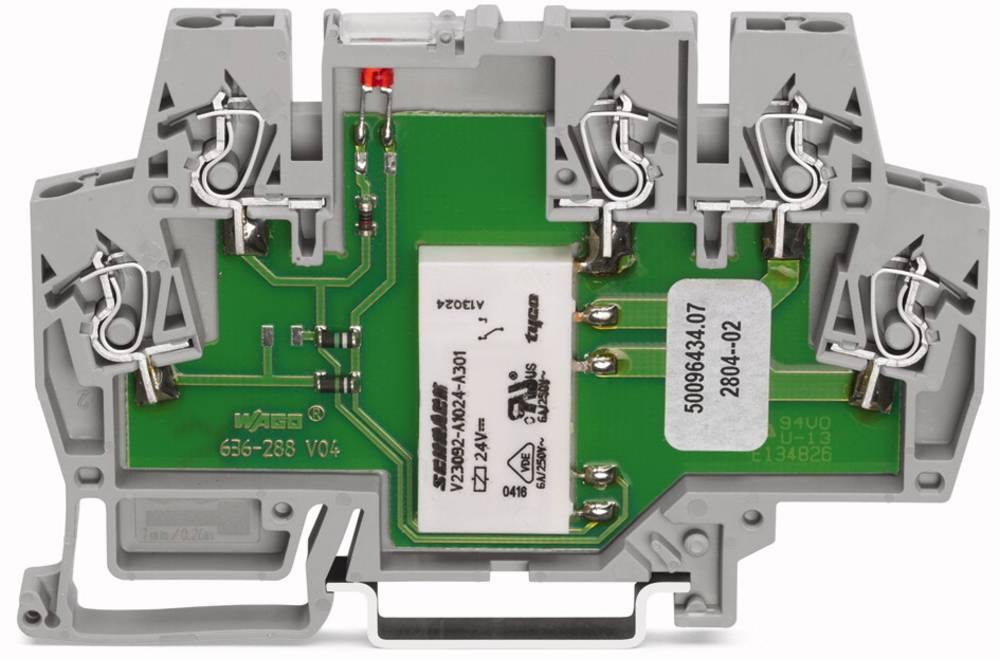 Relæklemme 1 stk WAGO 859-303 Nominel spænding: 12 V/DC Brydestrøm (max.): 5 A 1 x skiftekontakt