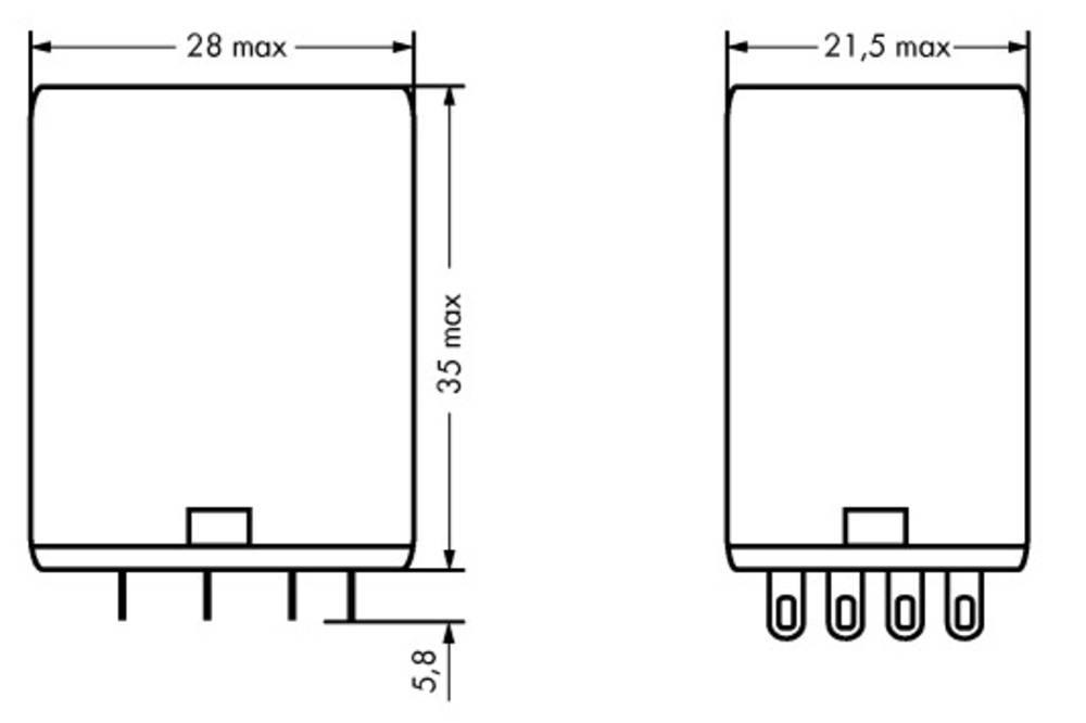 Stikrelæ 24 V/DC 5 A 4 x omskifter WAGO 858-150 1 stk
