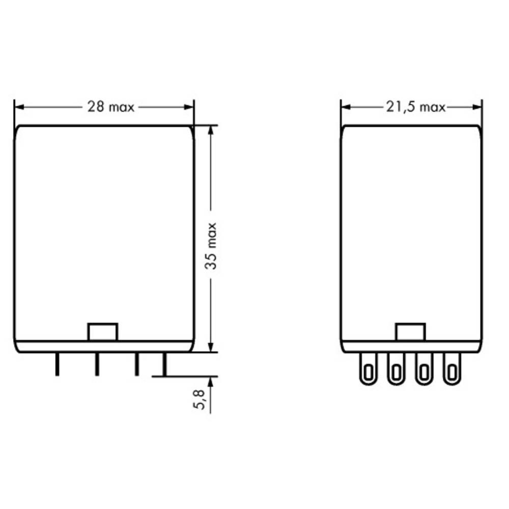 Stikrelæ 240 V/AC 5 A 4 x omskifter WAGO 858-151 40 stk