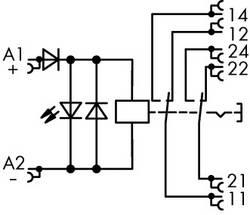 Industrirelæ 1 stk WAGO 789-1346 Nominel spænding: 24 V/DC Brydestrøm (max.): 8 A 2 x omskifter