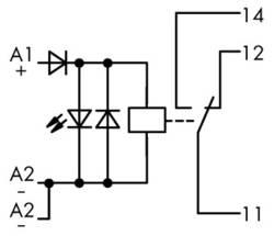Industrirelæ 1 stk WAGO 789-304 Nominel spænding: 24 V/DC Brydestrøm (max.): 12 A 1 x skiftekontakt