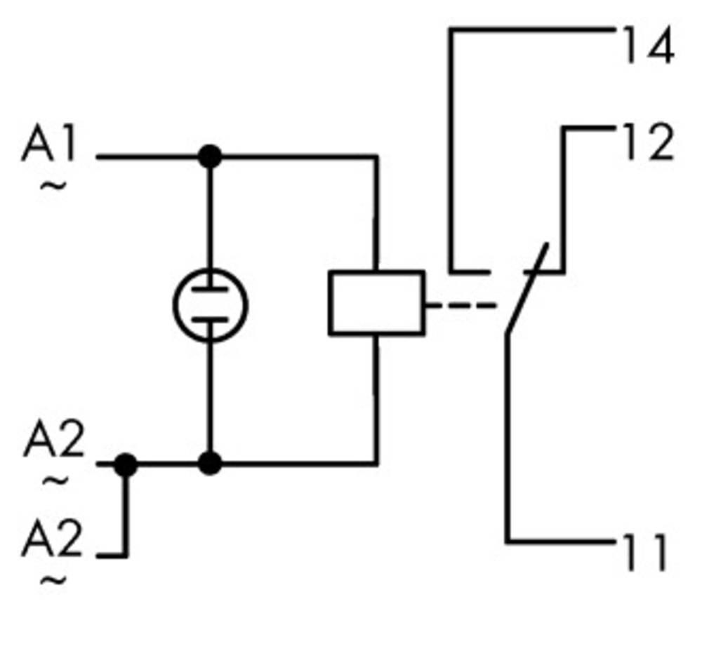 Industrijski rele 1 kos WAGO 789-504 nazivna napetost: 24 V/DC, 24 V/AC preklopni tok (maks.): 12 A 1 x preklopni
