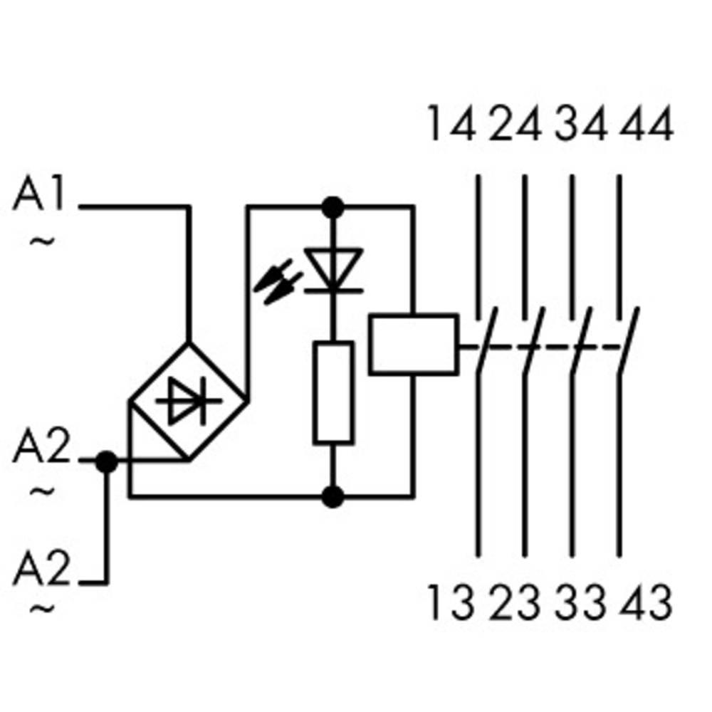 Industrirelæ 1 stk WAGO 789-551 Nominel spænding: 12 V/DC, 12 V/AC Brydestrøm (max.): 4 A 4 x sluttekontakt