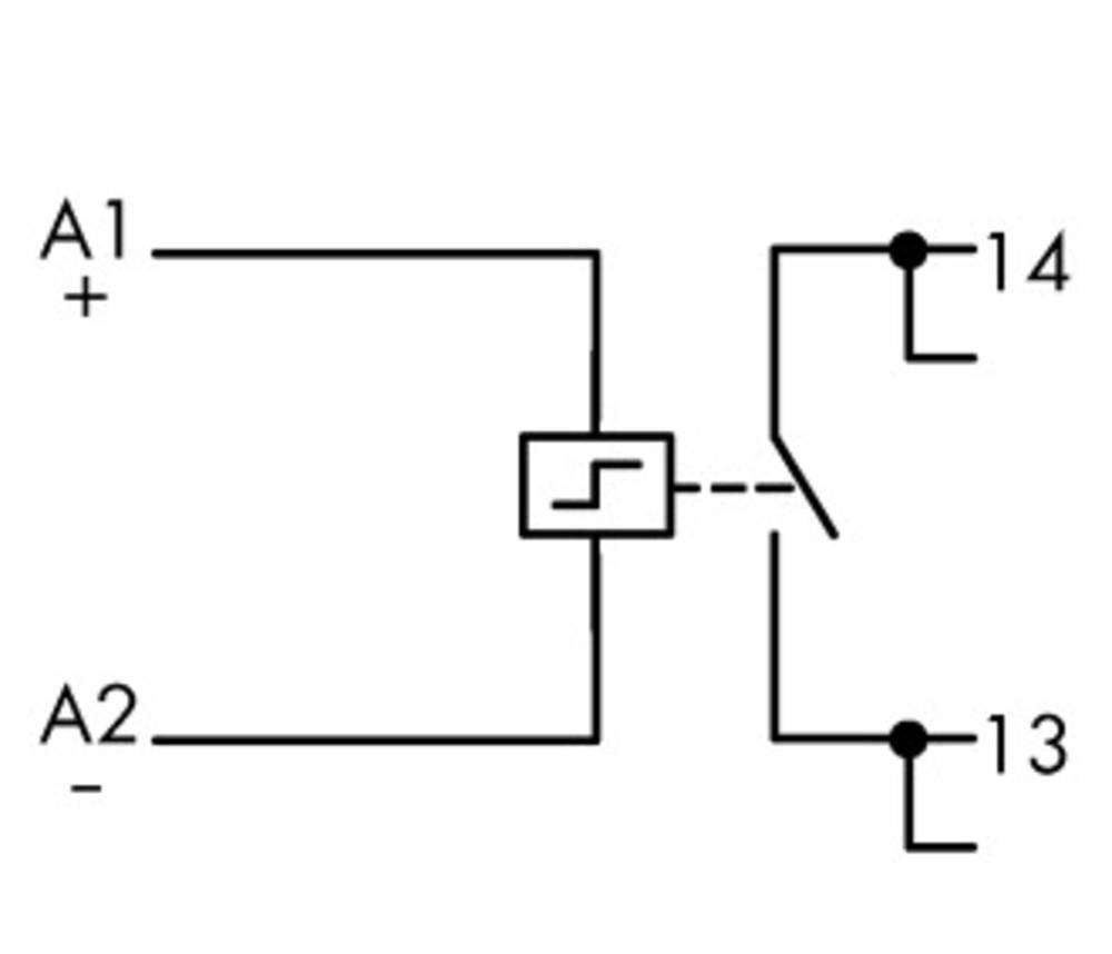 Industrirelæ 1 stk WAGO 789-571 Nominel spænding: 24 V/DC Brydestrøm (max.): 16 A 1 x sluttekontakt