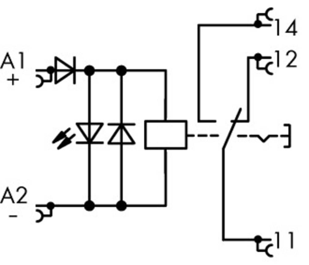 Industrijski rele 1 kos WAGO 789-1341 nazivna napetost: 24 V/DC preklopni tok (maks.): 16 A 1 x preklopni