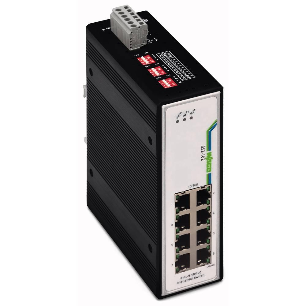Omrežno stikalo, neupravljalno WAGO 852-102 število Ethernet vrat 8, hitrost LAN prenosa 100 MBit/s obratovalna napetost 12 V/DC