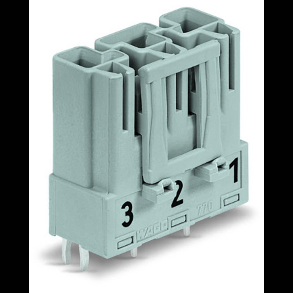 Strømstik Serie (netstik) WINSTA MIDI Stik, indbygning lodret Samlet poltal: 3 25 A Grå WAGO 100 stk