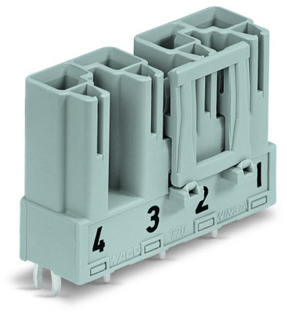 Strømstik Serie (netstik) WINSTA MIDI Stik, indbygning lodret Samlet poltal: 4 25 A Pink WAGO 50 stk
