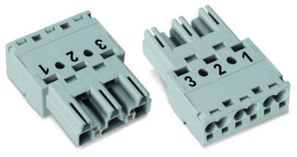 Strømstik Serie (netstik) WINSTA MIDI Stik, lige Samlet poltal: 3 25 A Lysegrøn WAGO 100 stk