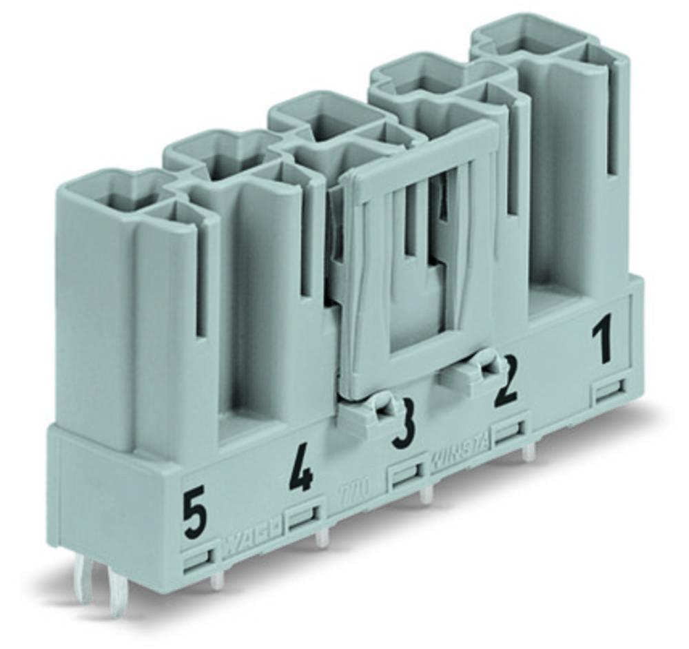 Strømstik Serie (netstik) WINSTA MIDI Stik, indbygning vandret Samlet poltal: 5 25 A Sort WAGO 50 stk