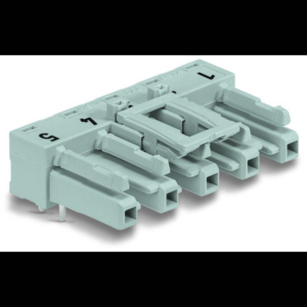 Strømstik Serie (netstik) WINSTA MIDI Tilslutning, indbygning vandret Samlet poltal: 5 25 A Sort WAGO 50 stk
