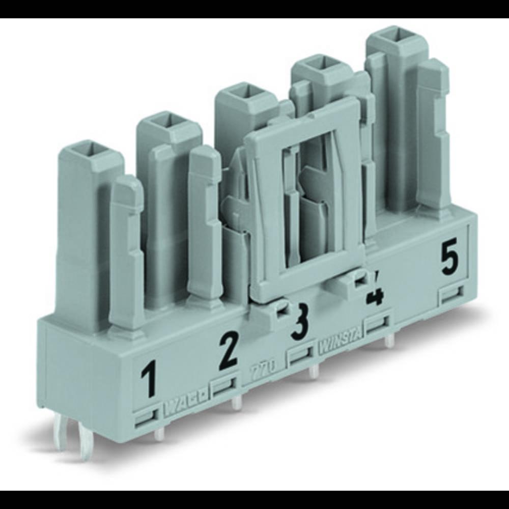 Strømstik Serie (netstik) WINSTA MIDI Tilslutning, indbygning vandret Samlet poltal: 5 25 A Blå WAGO 50 stk