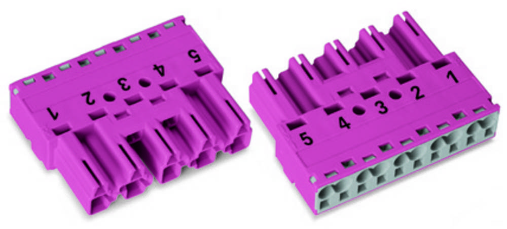 Strømstik Serie (netstik) WINSTA MIDI Stik, lige Samlet poltal: 5 25 A Rød WAGO 50 stk