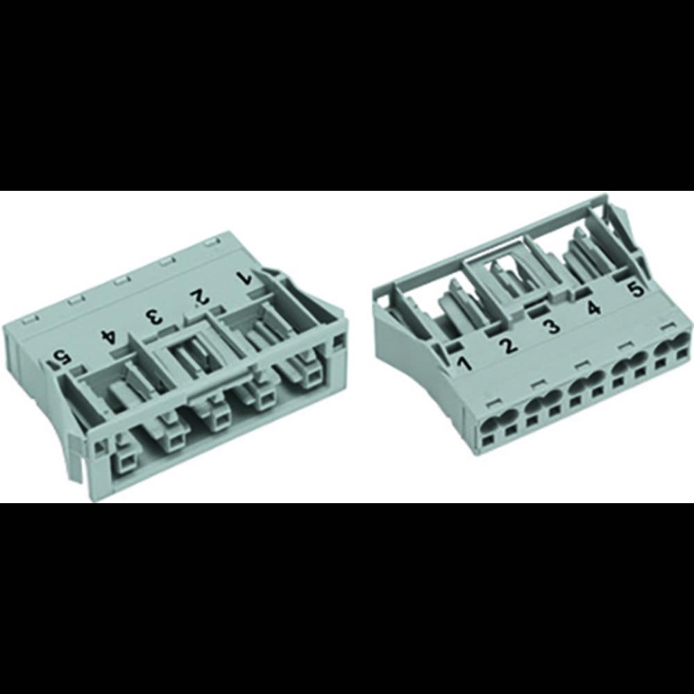 Strømstik Serie (netstik) WINSTA MIDI Tilslutning, lige Samlet poltal: 5 25 A Pink WAGO 100 stk
