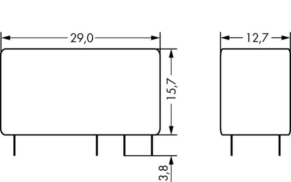 Rele za tiskana vezja 230 V/AC 8 A 2 x preklopni WAGO 788-181 20 kosov