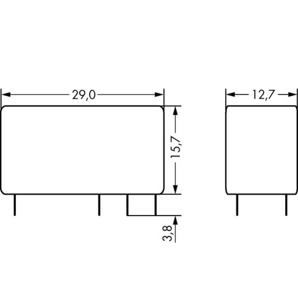 Printrelæ 115 V/AC 8 A 2 x omskifter WAGO 788-176 20 stk