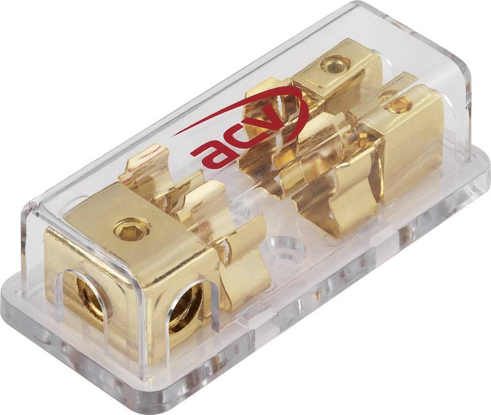 Fordeler sikringsblok til AGU-sikringer 10/20 mm² AGU-sikringer (glas-sikringer) 10,3 x 38,1 mm
