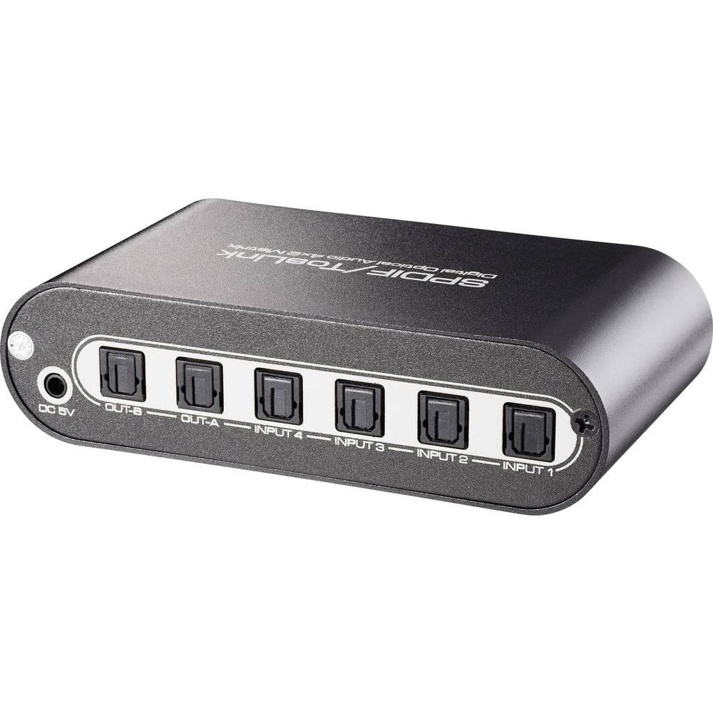 Speaka Professional 4 X 2 Ports Toslink Matrix Switcher Remote Way Switch Control