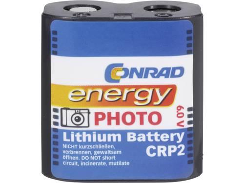 Conrad energy CRP2 CR-P2 Fotobatterij Lithium 1400 mAh 6 V 1 stuk(s)