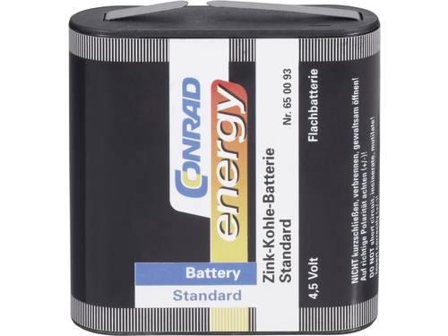 Platte batterij (4,5V) Conrad energy 3LR12 Zink-kool 2000 mAh 1 stuks