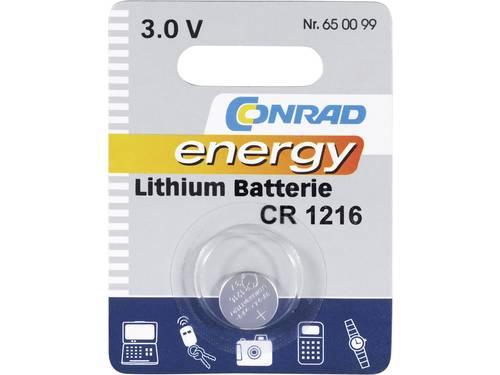 CR1216 Knoopcel Lithium 3 V 25 mAh Conrad energy CR1216 1 stuks