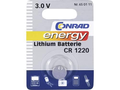 CR1220 Knoopcel Lithium 3 V 30 mAh Conrad energy CR1220 1 stuks