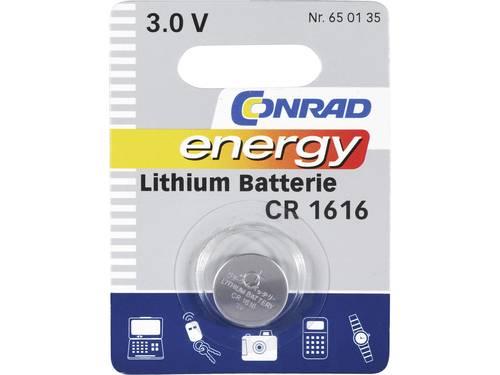 CR1616 Knoopcel Lithium 3 V 45 mAh Conrad energy CR1616 1 stuks