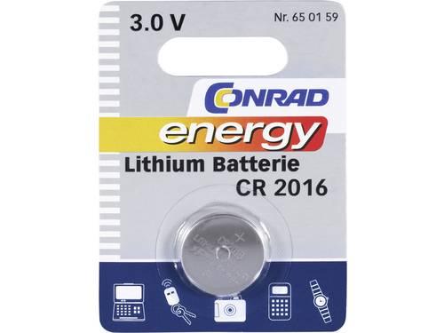 CR2016 Knoopcel Lithium 3 V 70 mAh Conrad energy 1 stuks