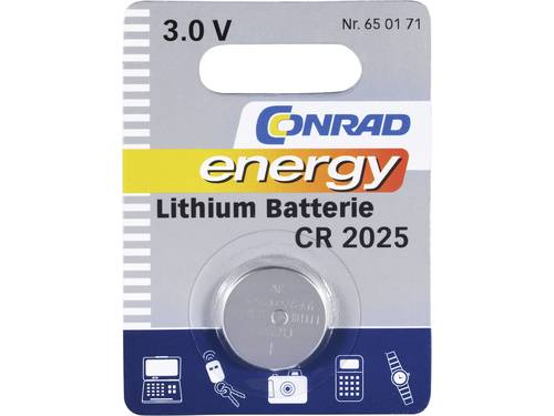 CR2025 Knoopcel Lithium 3 V 140 mAh Conrad energy 1 stuks