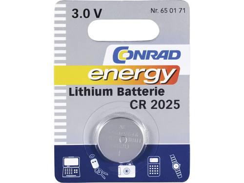 CR2025 Knoopcel Lithium 3 V 140 mAh Conrad energy CR2025 1 stuks
