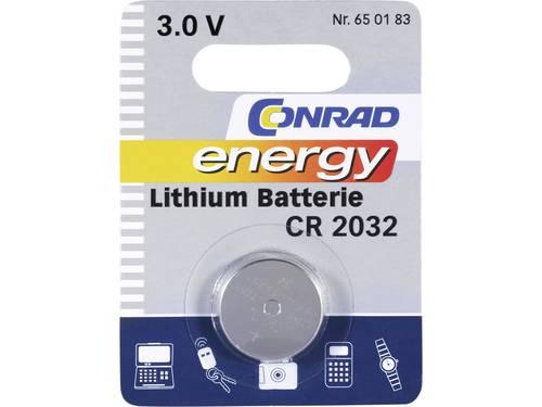 CR2032 Knoopcel Lithium 3 V 200 mAh Conrad energy CR2032 1 stuks