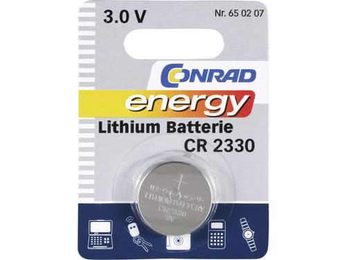 CR2330 Knoopcel Lithium 3 V 260 mAh Conrad energy 1 stuks