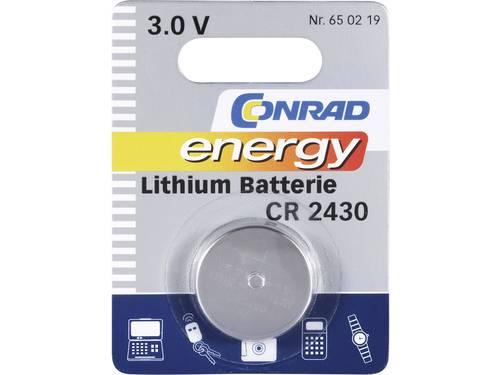 CR2430 Knoopcel Lithium 3 V 270 mAh Conrad energy CR2430 1 stuks