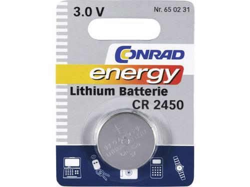 CR2450 Knoopcel Lithium 3 V 600 mAh Conrad energy CR2450 1 stuks
