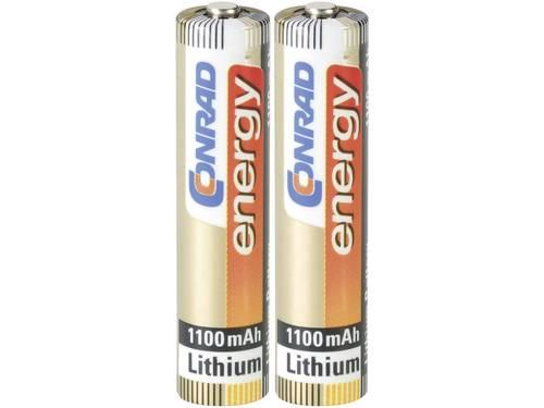 AAA batterij (potlood) Conrad energy Extreme Power LR03 Lithium 1.5 V 2 stuks