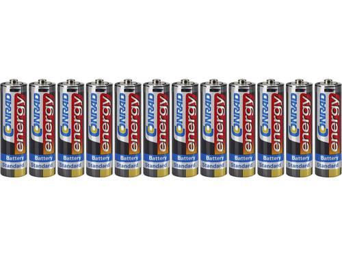 AA batterij (penlite) Conrad energy R06 Zink-kool 1.5 V 12 stuks