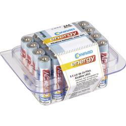 AAA-batteri Alkali-mangan Conrad energy LR03 1.5 V 24 stk